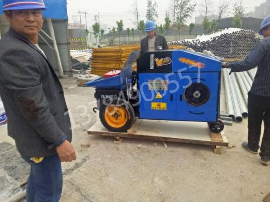 江西卧式混凝土泵施工现场