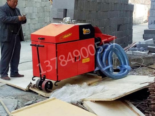 济南小型混凝土泵施工现场
